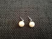 Strieborné perlové náušnice,