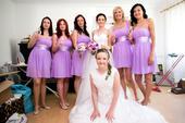 Šaty lila pro dospělé družičky - 5x, 38
