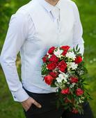 Svatební vesta s regatou a kapesníčkem pro ženicha, 54