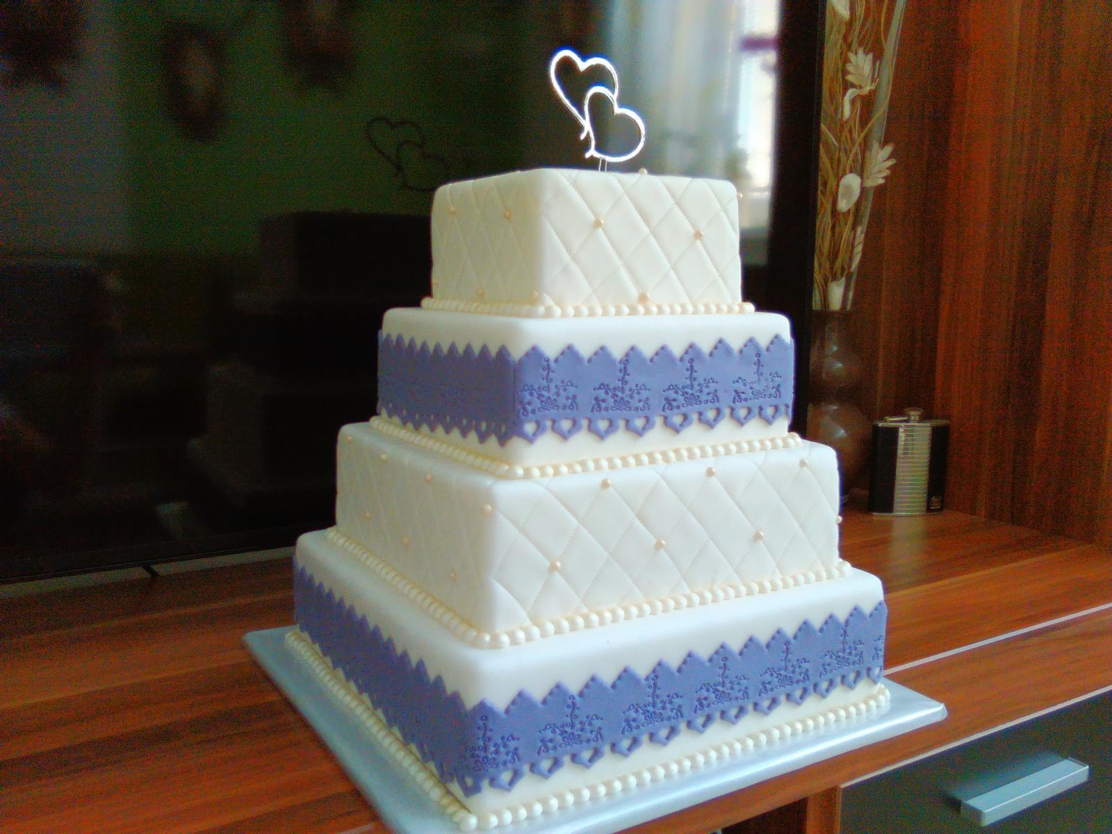 Polystyrénová torta svadobná  - Obrázok č. 3