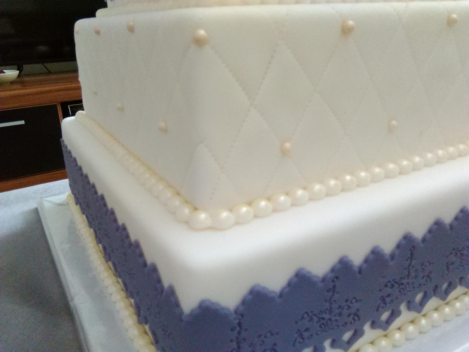Polystyrénová torta svadobná  - Obrázok č. 2