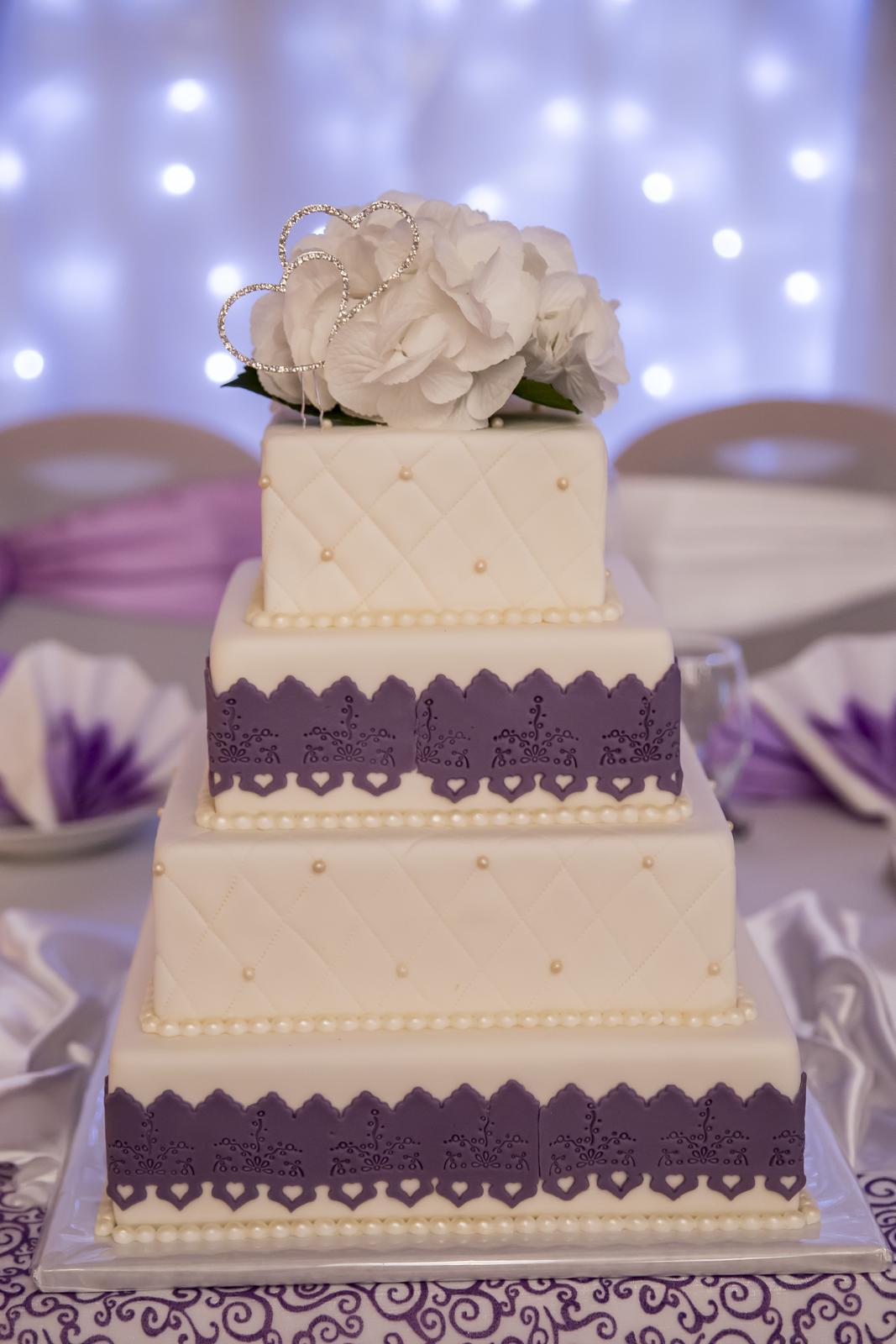 Polystyrénová torta svadobná  - Obrázok č. 1
