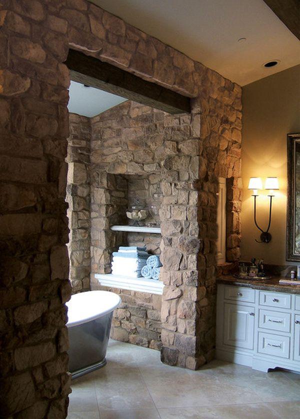 Koupelna v rustikálním stylu - Obrázek č. 11