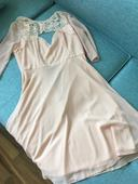 Starorůžové šaty (nenošené, vel. 38),