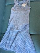 Světle modré krajkové šaty (nenošené, vel. 38),