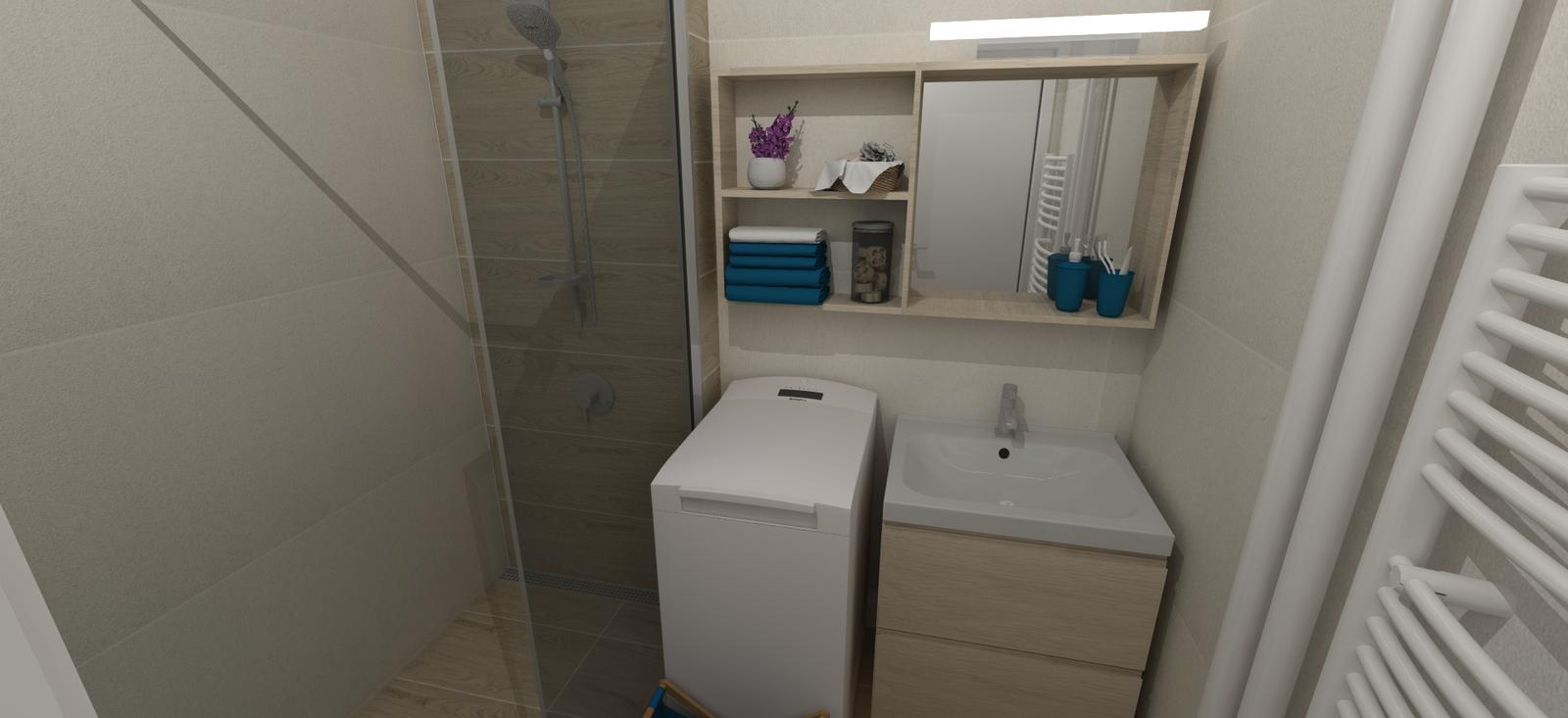 Rekonštrukcia 3i bytu - kúpelňa
