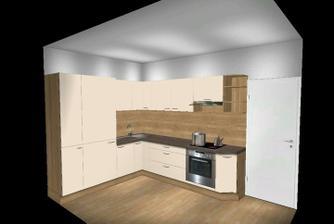 Tak takto nejako bude vyzerať naša kuchyňa. Farebnosť nie je celkom presná.