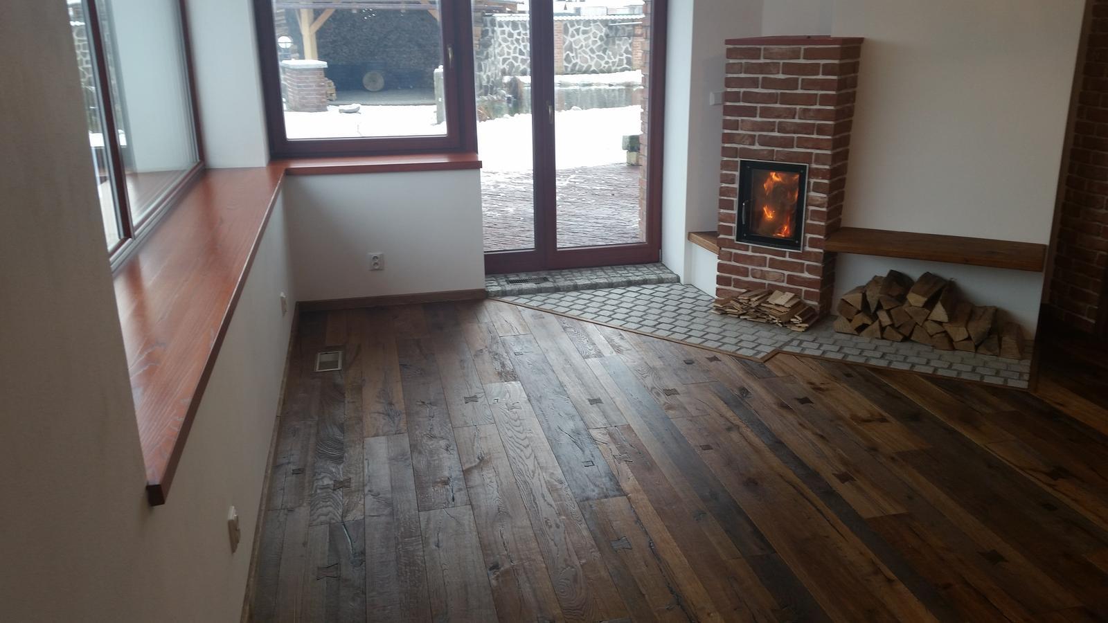 Náš interier - ...podlaha dokončená