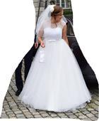 Svatební šaty + závoj, pompadurka, spodnice, 39