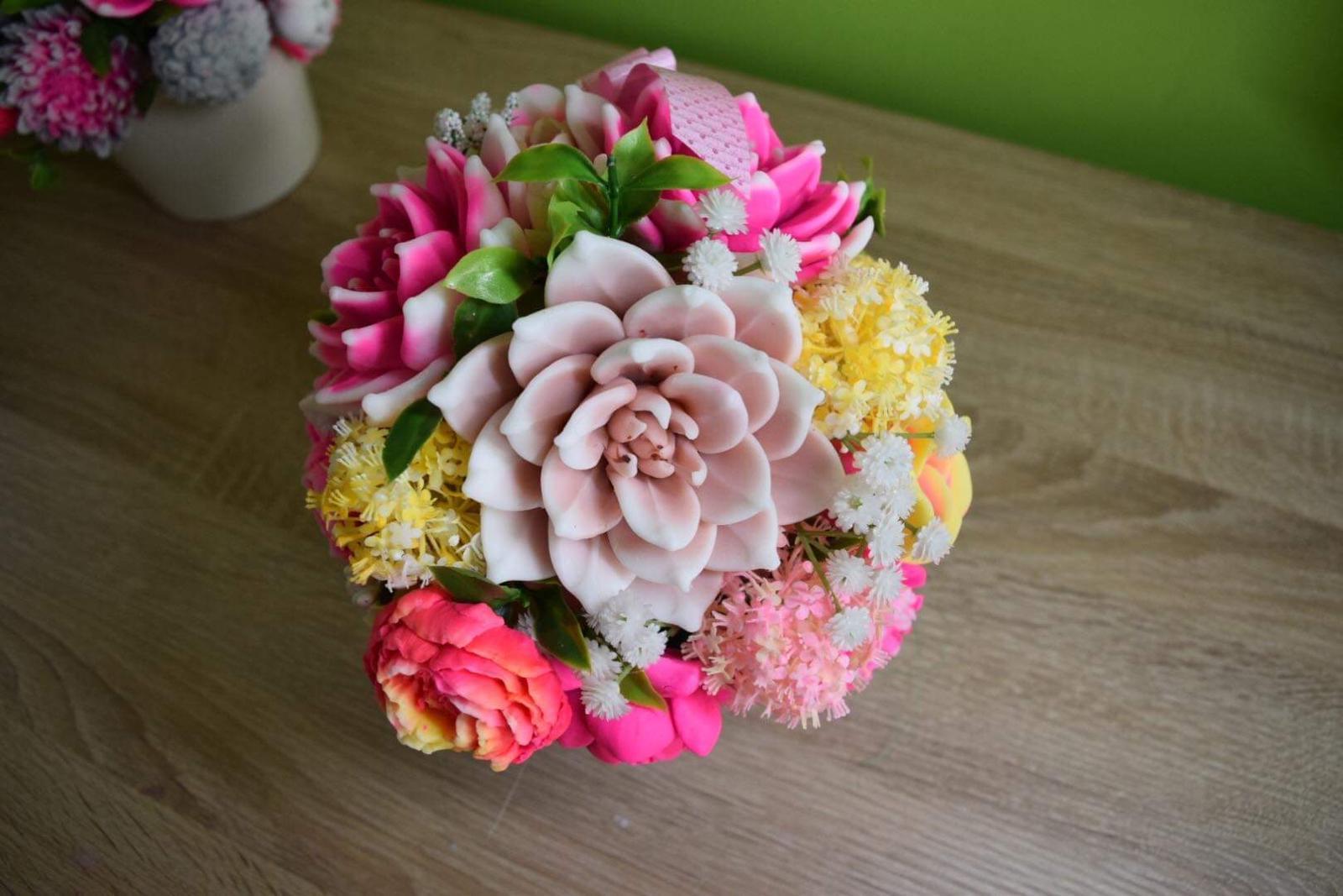 Mydlove kytice dekoracne rôzne  - Obrázok č. 3