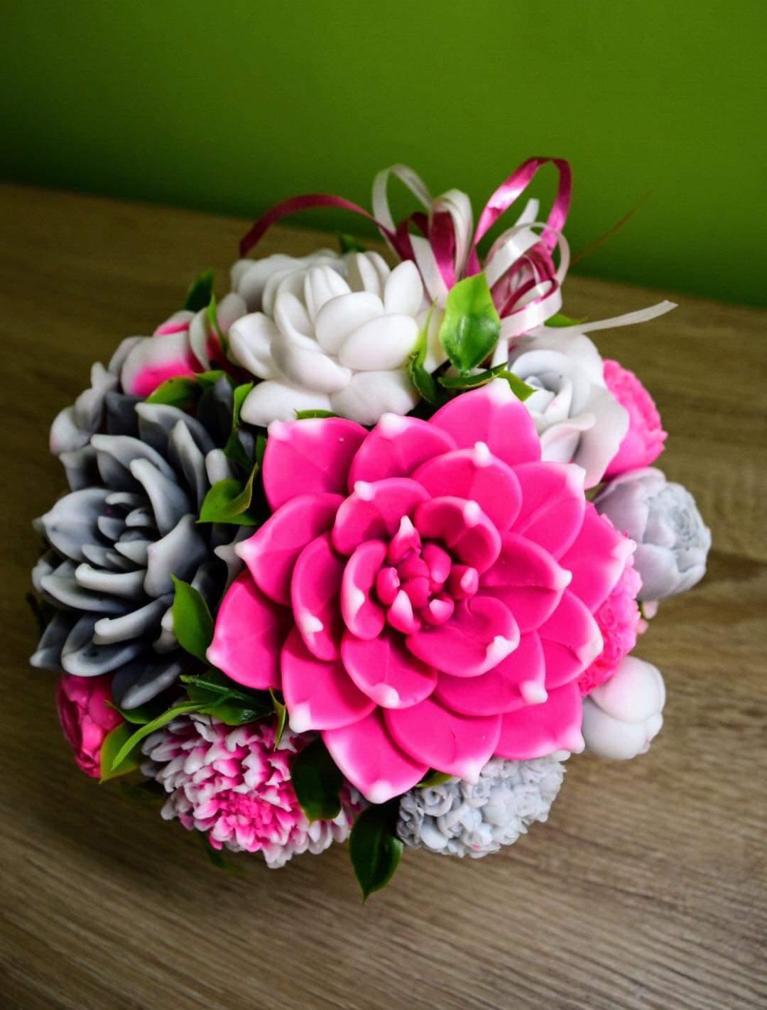 Mydlove kytice dekoracne rôzne  - Obrázok č. 2
