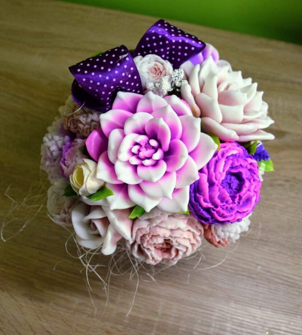 Mydlove kytice dekoracne rôzne  - Obrázok č. 1