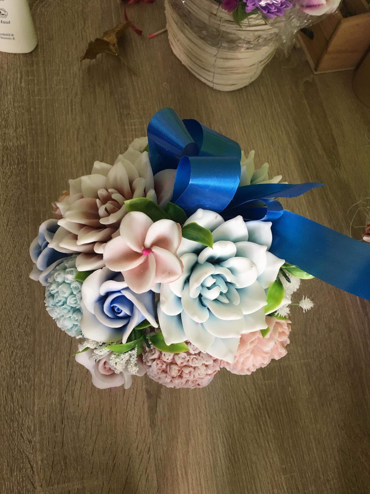 Mydlove kytice dekoracne rôzne  - Obrázok č. 4