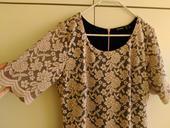 Šaty krajkové starorůžová a černá barva, vel. 40, 40