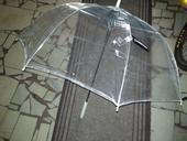 Deštník průhledný, čirý,