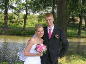 romantická fotka u rybníka