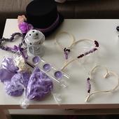 svatebni výzdoba - lila, ivory,Provence,