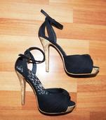 Sexi sandálky na ihličkách a platforme vpredu, 37