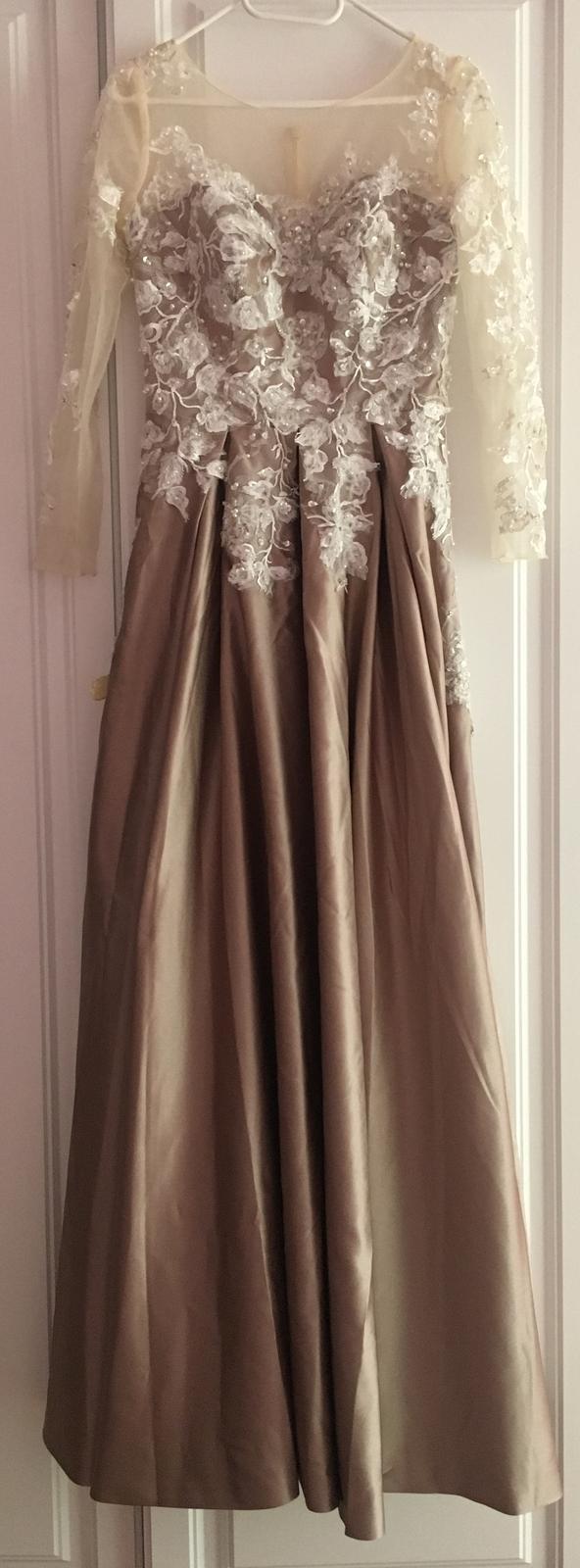 Plesové šaty s čipkou 34/36 - Obrázok č. 1