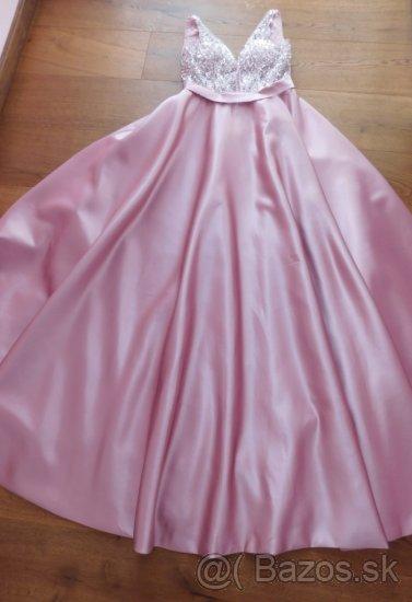 Plesové / popolnočné šaty veľ. 36-38 - Obrázok č. 4