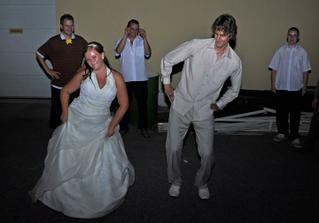 crazy wedding dance