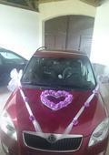 Výzdoba na auto nevěsty ,