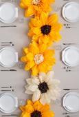 Slunečnice pro váš svatební stůl,