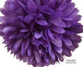 Violet (čistě fialový) pom pom,