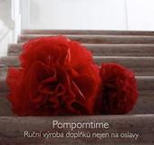 Červné  (Rouge) pompoms,