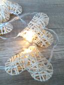 Girlandy, svítící srdce řetězy, papírová srrdíčka,