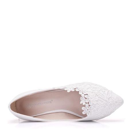 Bílé balerínky s krajkou - Obrázek č. 1