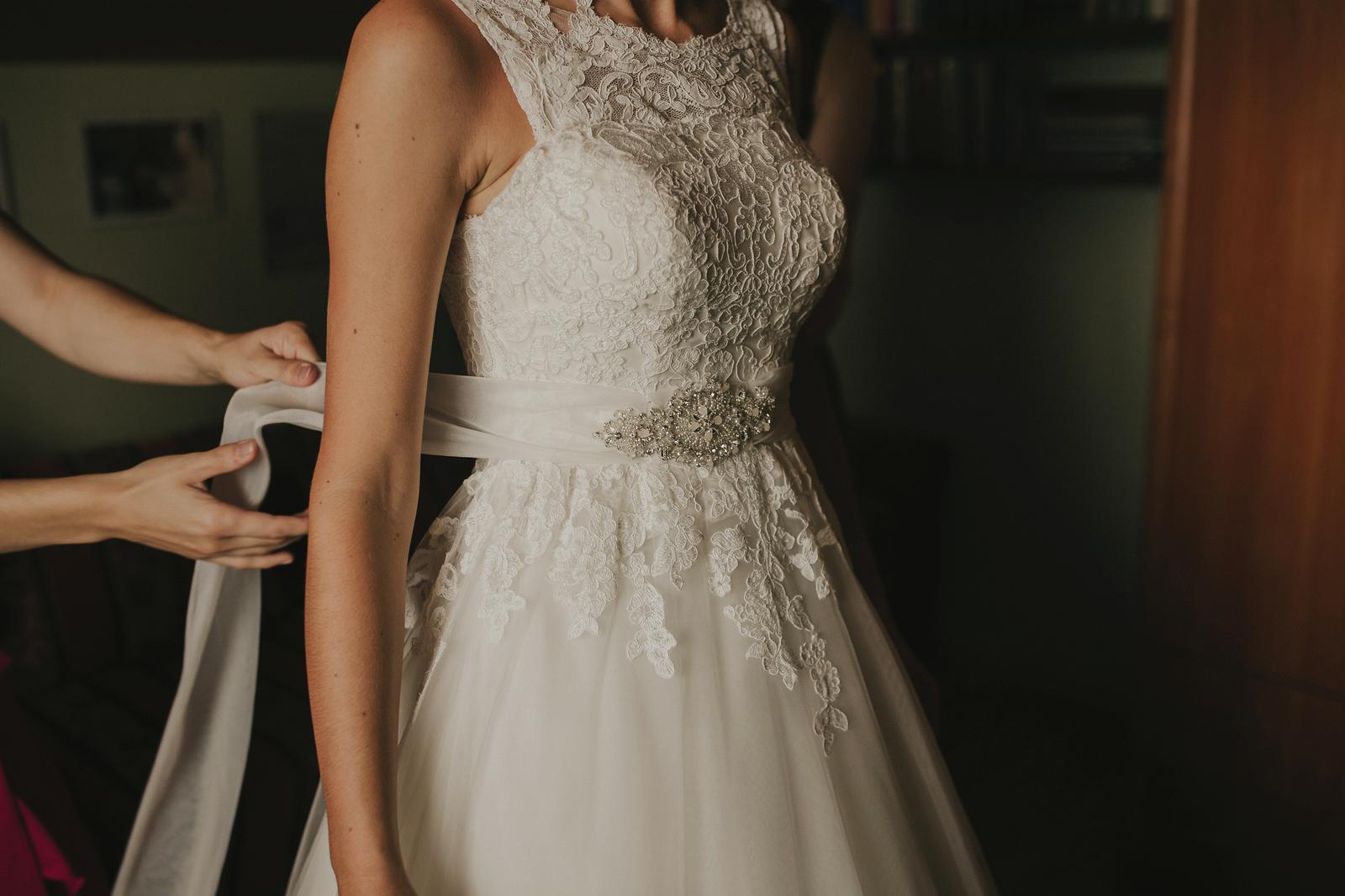 Svadobné šaty, veľkosť 34-36, farba ivory - Obrázok č. 4