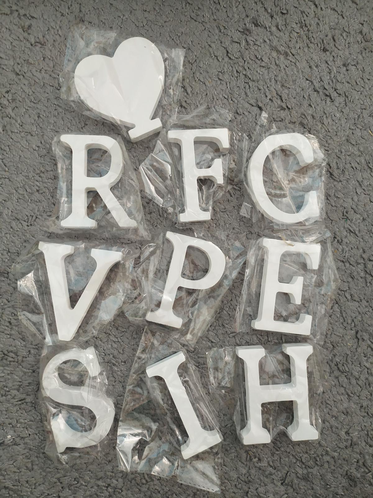 Písmena bílá malá 8 cm - Obrázek č. 1