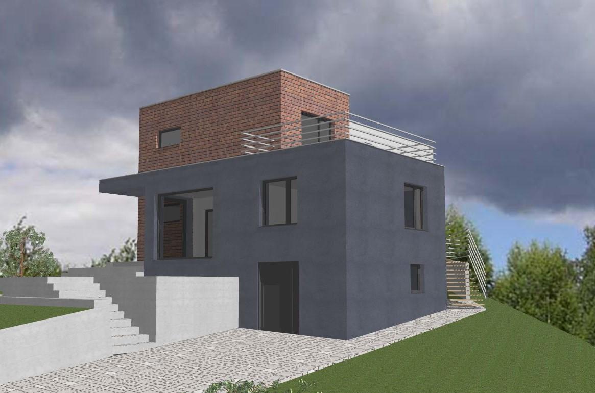Rekonstrukce RD - Místo prvotně plánované terasy, bude plnohodnotná místnost....