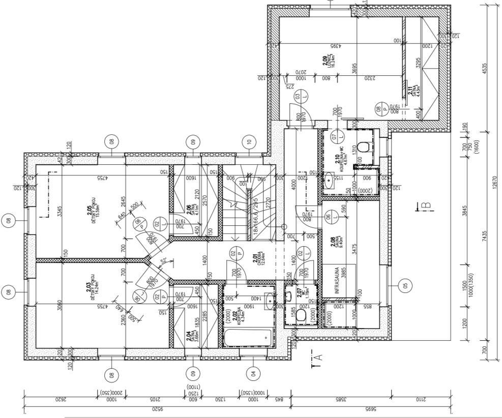 Rekonstrukce RD - Půdorys 2.NP
