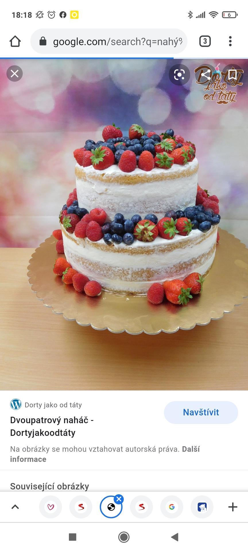 Svatební přípravy - 2-patrový naháč s ovocem