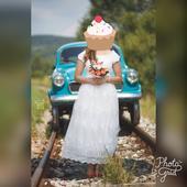 Romantické krajkové svadobné šaty, 40