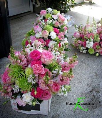 Tina a Robo - kvety na stoly