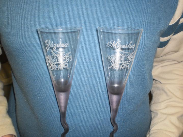 Z + M - Naše svadobné poháre....