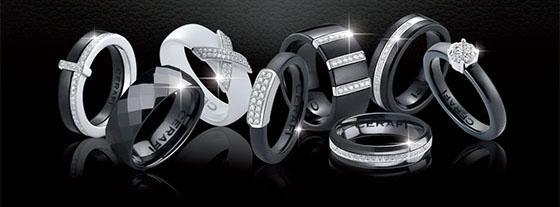 keramické prsteny