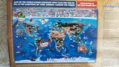 Tapeta mapa sveta,
