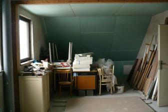budoucí kuchyň s obývacím pokojem