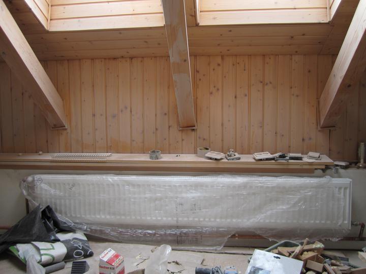 Naše podkroví - a v ložnici (tohle se mi líbí nejvíc)