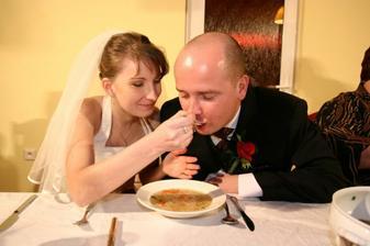 Mňam...najlepšia slepačia polievka akú sme kedy jedli...