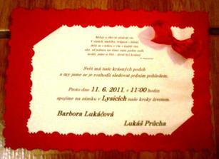Tak toto je můj finální výtvoj - naše svatební oznámení.