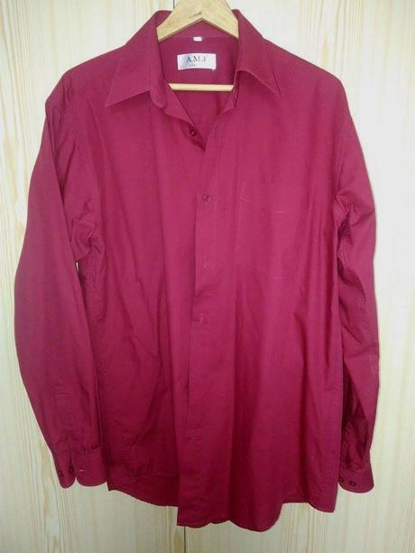 Pánska vínová košeľa - Obrázok č. 1