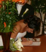 novomanželka podpis