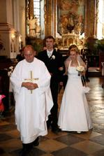 Čerství novomanželia.
