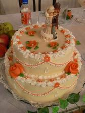 Naša svadobná torta od nášho krsňaťa Nataličky a jej rodičov