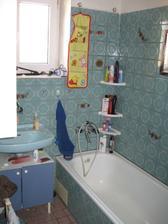 Příčka mezi koupelnou a záchodem se zbourá a koupelna bude do L.